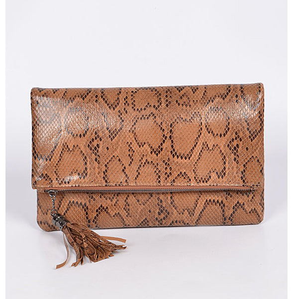 In Style Clutch - Brown - Prairie Rose Boutique