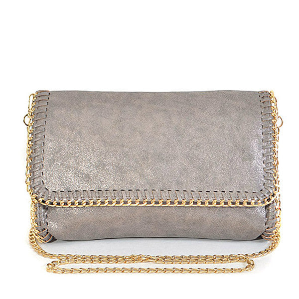 In Style Hematite Clutch - Prairie Rose Boutique