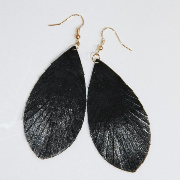 Leather Earrings - Prairie Rose Boutique