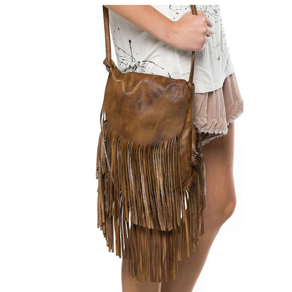 Go West Leather Cross Body Bag - Prairie Rose Boutique