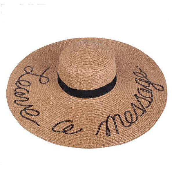 Leave A Message Floppy Hat - Prairie Rose Boutique