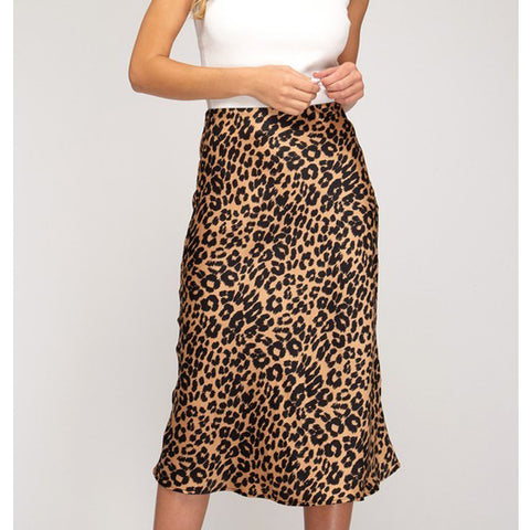 Leopard Skirt - Prairie Rose Boutique