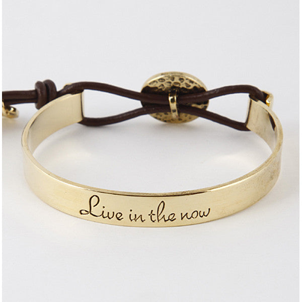 Live In the Now Bracelet - Prairie Rose Boutique
