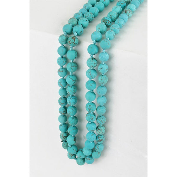 Turquoise Wrap Necklace - Prairie Rose Boutique