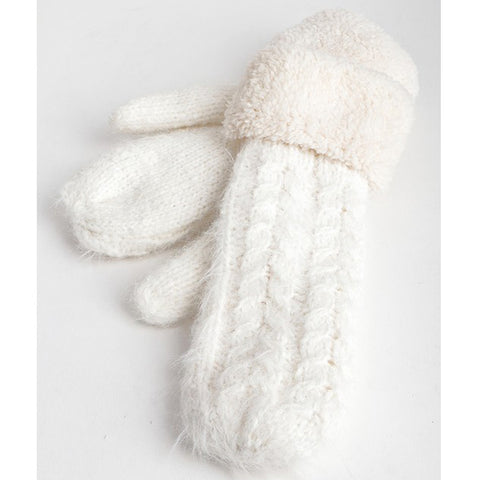 Keep Me Cozy Mittens - White - Prairie Rose Boutique