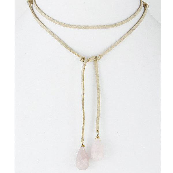 Mesa Wrap Necklace - Pink - Prairie Rose Boutique