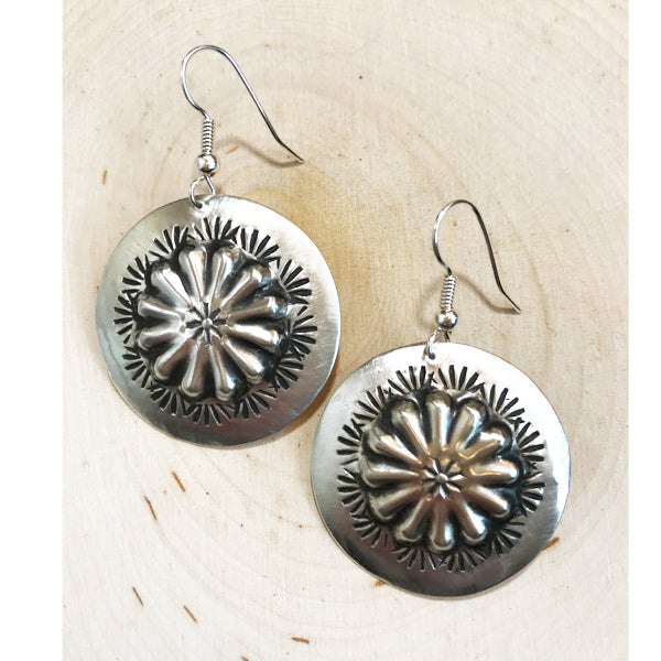 Navajo Sterling Silver Earrings - Prairie Rose Boutique