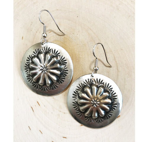 Navajo Sterling Silver Earrings