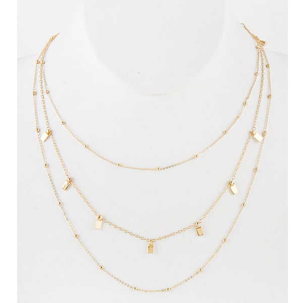 Gold Layered Necklace - Prairie Rose Boutique