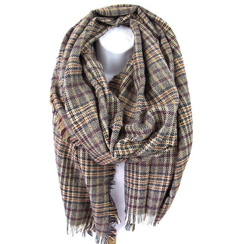 Cozy Plaid Scarf - Prairie Rose Boutique
