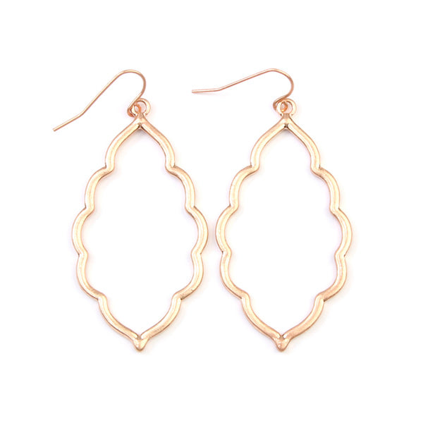 Violet Rose Gold Earrings - Prairie Rose Boutique