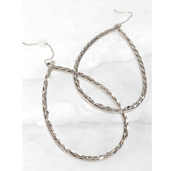 Silver Teardrop Earrings - Prairie Rose Boutique