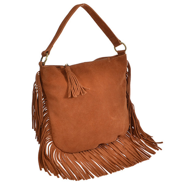 Sienna Suede Handbag - Brown - Prairie Rose Boutique
