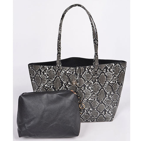 Snake Print Handbag - Prairie Rose Boutique