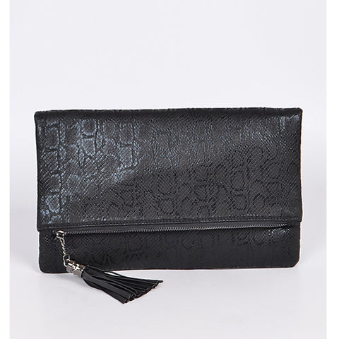 Snake Print Clutch - Prairie Rose Boutique
