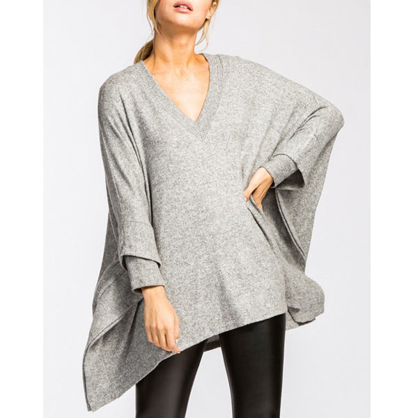 Suzanne Top - Gray - Prairie Rose Boutique