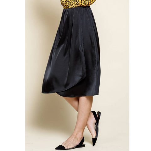 Suzanne Satin Midi Skirt