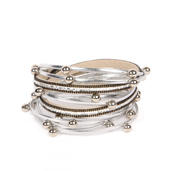 Silver Wrap Bracelet - Prairie Rose Boutique