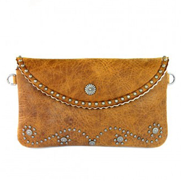 Into The West Clutch - Tan - Prairie Rose Boutique