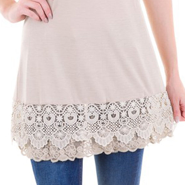 Lace Extender Slip Top - Prairie Rose Boutique