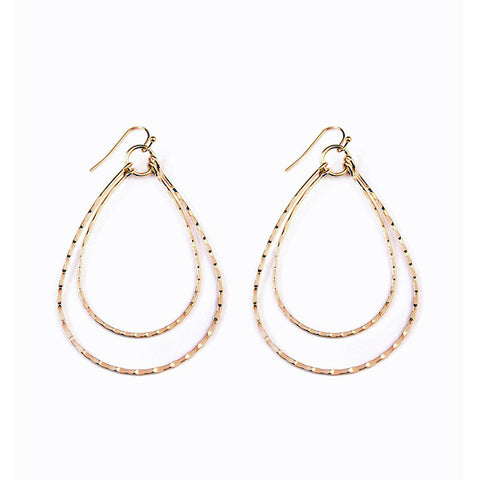 Gold Teardrop Earrings - Prairie Rose Boutique