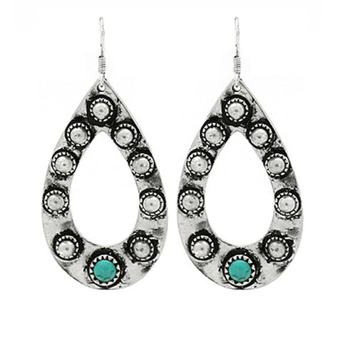 Teardrop Turquoise Earrings - Prairie Rose Boutique