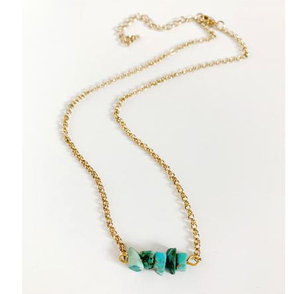 Simple Turquoise Necklace - Prairie Rose Boutique