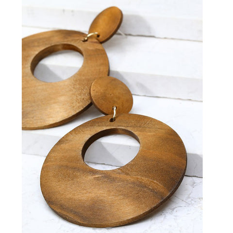 Round Wood Earrings - Prairie Rose Boutique