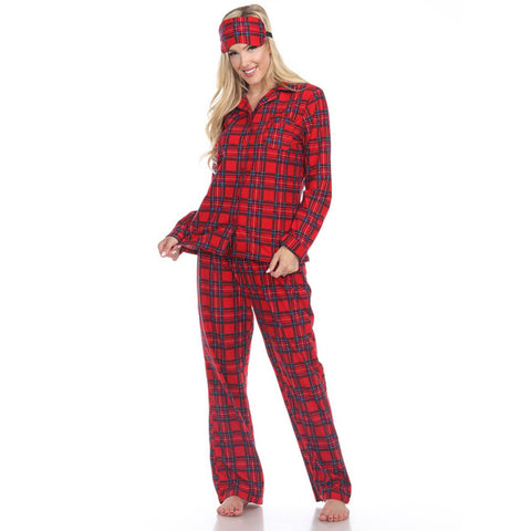 Christmas Eve PJ Set - Red