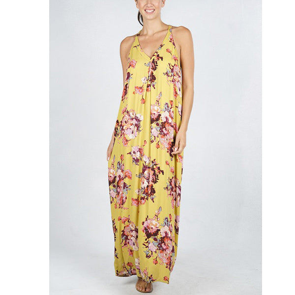 Haley Maxi Dress - Mustard - Prairie Rose Boutique