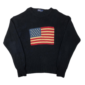 Ralph Lauren flag knit sweatshirt