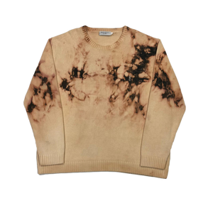 Custom acid wash YSL knit sweatshirt