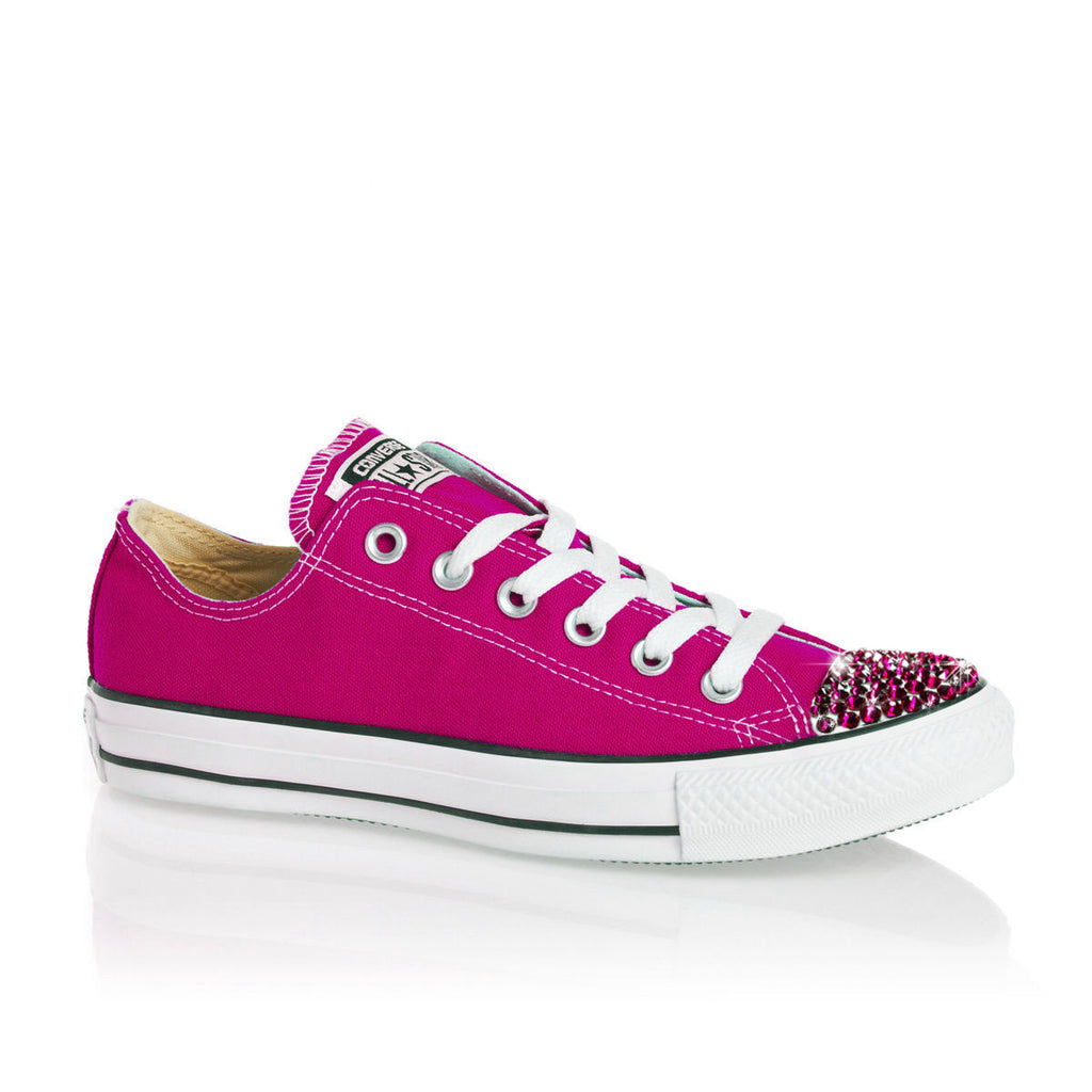 Limited Edition Pink Swarovski Crystal - Pink Converse