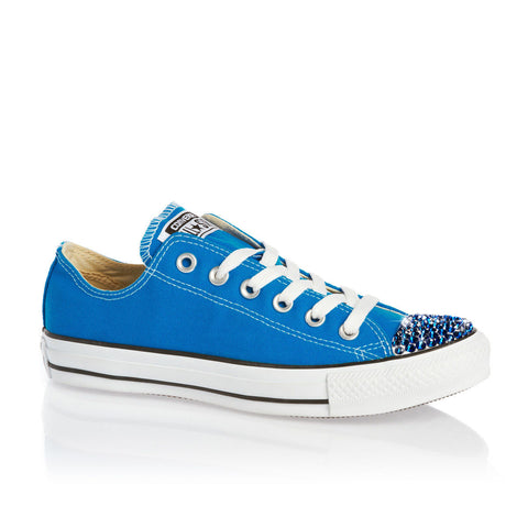 Limited Edition Blue Swarovski Crystal - Blue Converse