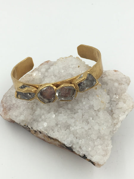 Quartet Herkimer Diamond Cuff