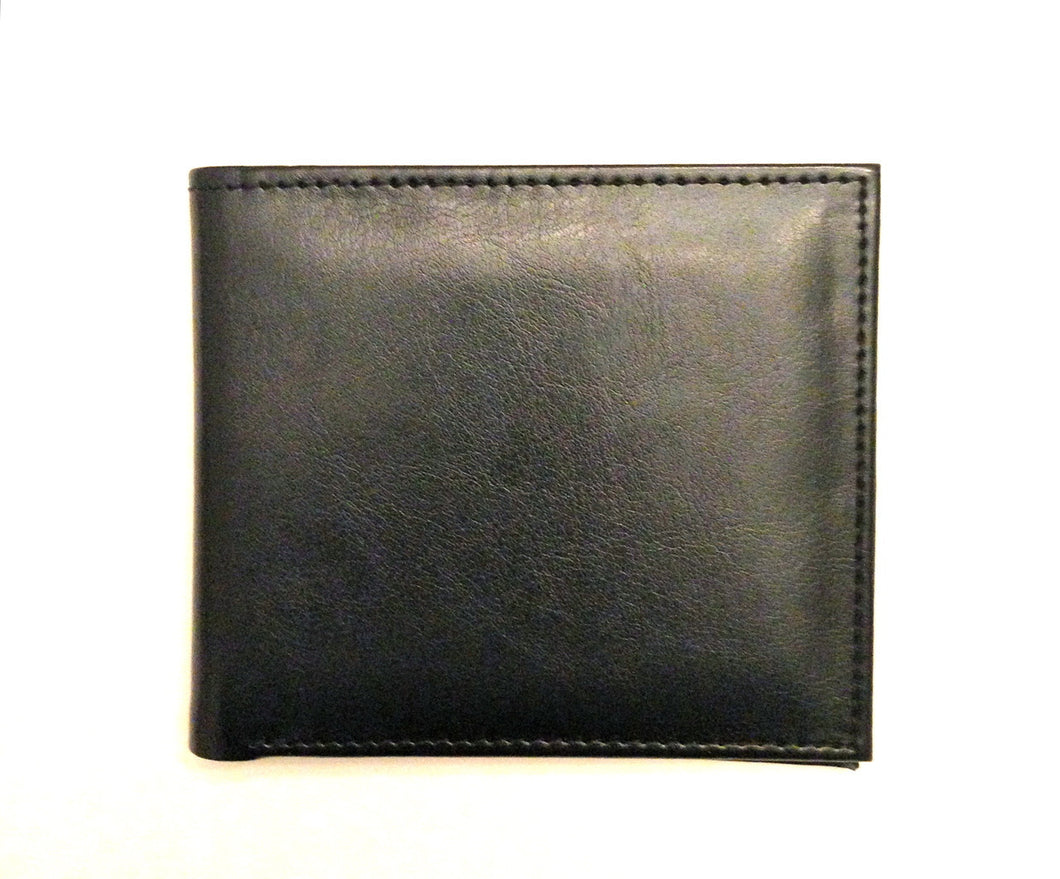 Mens Wallet - Black Leather Wallet by Senate