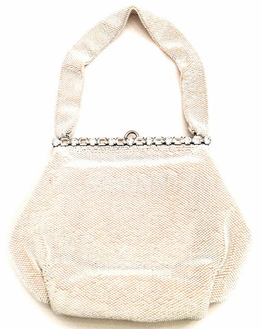 Josef - Handbag Beautiful White Hand beaded Clutch - $275.00