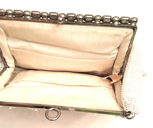 Josef - Handbag Beautiful White Hand beaded Clutch