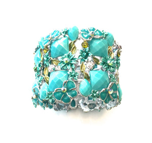 Fashion Bracelet - Butterfly Turquoise Color Fashion Bracelet