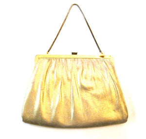 Vintage Gold Clutch Handbag Classic Style