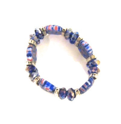 Fashion Bracelet - Sunday Brunch Blue Bracelet