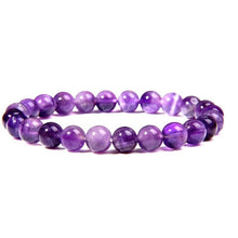 Load image into Gallery viewer, Natural purple Amethysts agates Chalcedony stone beads bracelet jewelry for women men femme homme purple gem stone bracelet gift