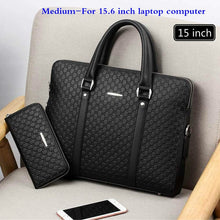 Load image into Gallery viewer, New Double Layers Men's Leather Business Briefcase Casual Man Shoulder Bag Messenger Bag Male Laptops Handbags Men Travel Bags