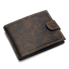 Load image into Gallery viewer, Luxury Designer Mens Wallet Leather PU Bifold Short Wallets Men Hasp Vintage Male Purse Coin Pouch Multi-functional Cards Wallet