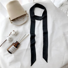 Load image into Gallery viewer, Silk thin long scarf solid color universal scarf European and American long scarf