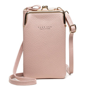 High Quality Phone Bag PU Leather Large Capacity Travel Portable Shoulder Bag Brand Ladies Crossbody Bag Fashion Messenger Bag