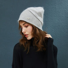Load image into Gallery viewer, Female Beanies Rabbit Hair Winter Hats For Women Casual Autumn Knitted Beanie Girl Fashion High Quality Bonnet Cap Soft Wool Hat