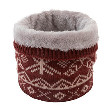Load image into Gallery viewer, Unisex Winter Men Women Warm Knitted Ring Scarves Thick Elastic Knit Mufflers Children Neck Warmer Boys Girl Plush Scarf Collar