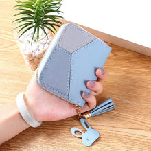 Load image into Gallery viewer, Geometric Luxury Brand Leather Women Long Zipper Coin Purses Tassel Design Clutch Wallet Female Money Credit Card Holder