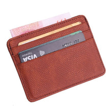 Load image into Gallery viewer, TRASSORY Small Mini Travel Lizard Pattern Leather Bank Business Id Card Holder Wallet Case For Men Women With Id Window